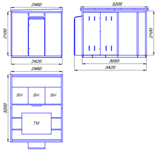 Підстанції трансформаторні комплектні міських мереж КТПмм 100…1000/10(6)/0,4