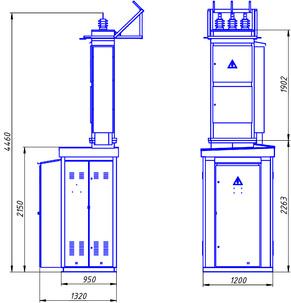 Підстанції трансформаторні комплектні  КТП1(2) – 25…400/10(6)/0,4